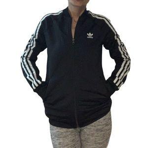 Adidas Boy's Black Track Zip Up Jacket Size XL